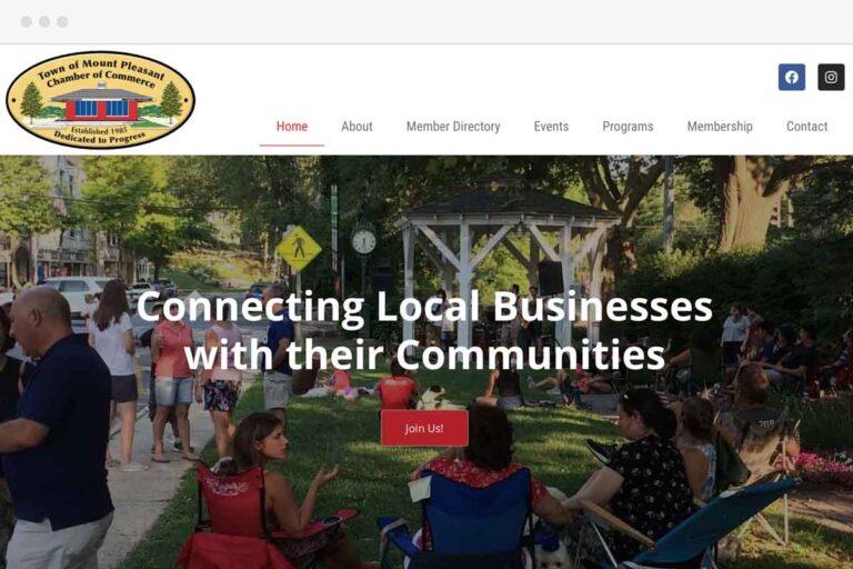 Mount Pleasant Chamber of Commerce screenshot