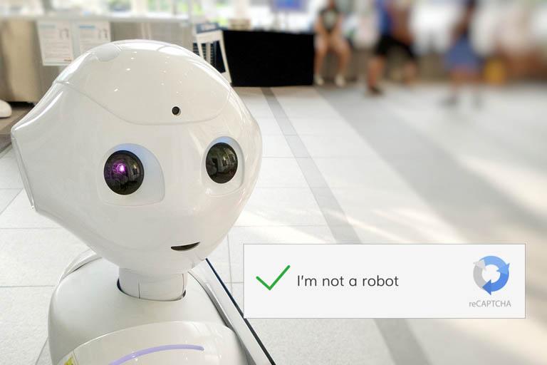 Robot, reCaptcha logo