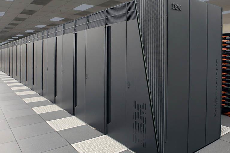 Row of IBM servers